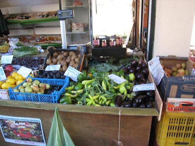 Corfu: pepers op de markt