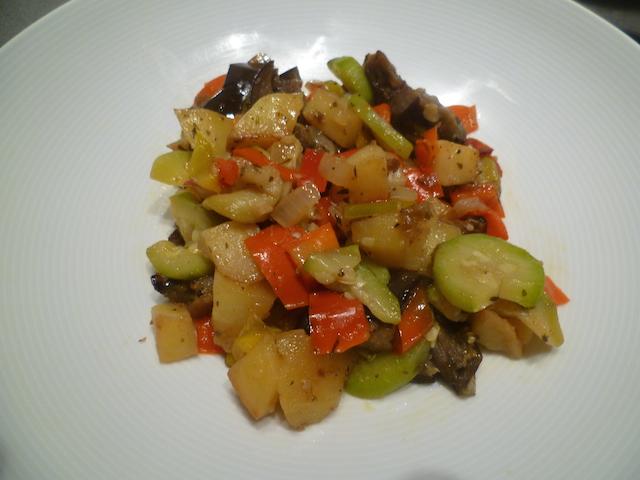 Pittige groentenstoofschotel