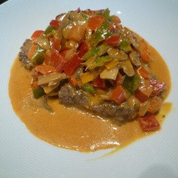 Steak Stroganoff met pit