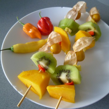 Chilis met fruit