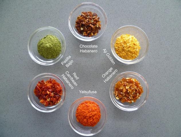 Gedroogde chilipeper: poeders en flakes (1)