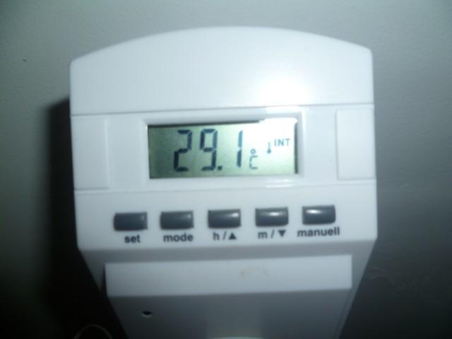 ... met een thermostaat en een voeler