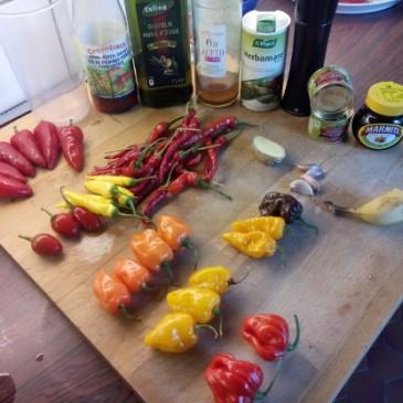 Sambal van hete pepers